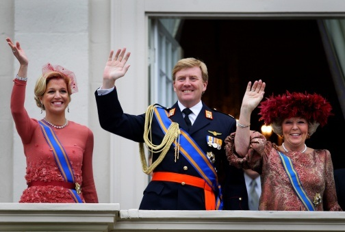 King Willem Alexander, Maxima and Beatrix